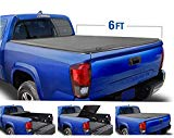Tyger Auto (Soft Top T3 Tri-Fold Truck Tonneau Cover TG-BC3T1031 Works with 2005-2015 Toyota Tacoma | Fleetside 6' Bed | for Models with or Without The Deckrail System