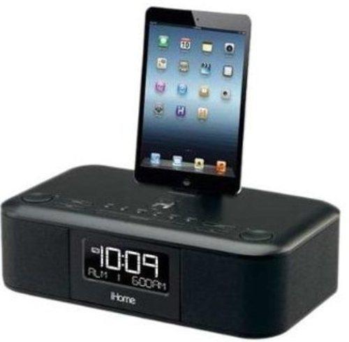 Ihome Idl95b Dual Alarm Clock Radio For Ipad, Iphone - Black