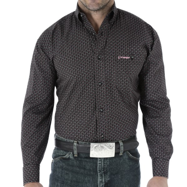 Wrangler Tough Enough to Wear Pink Shirt - Long Sleeve (For Men)