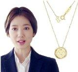 Kpop Korean Drama Pinocchio Park Shin Hye Gold Buttons Necklace
