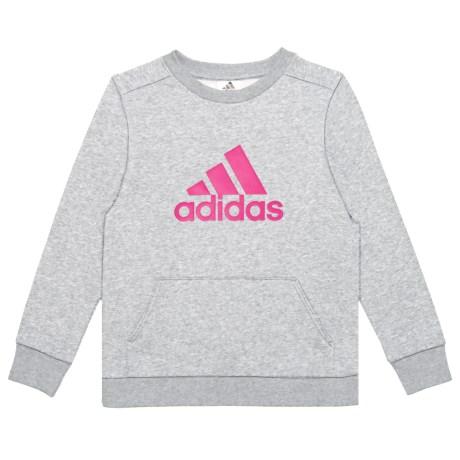 Cotton Fleece Sweatshirt - Crew Neck (for Big Girls)