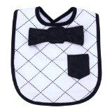 Trend Lab Dress Up Bowtie Bib, Versailles Black and White
