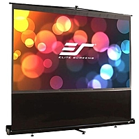 "Elite Screens F84nwv Ezcinema Portable Floor Set Manual Projection Screen (84"" 4:3 Aspect Ratio) (maxwhite) - 50"" X 67"" - Matte White - 84"" Diagonal"