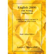 English 2600 With Writing Applications A Programmed Course In Grammar And Usage