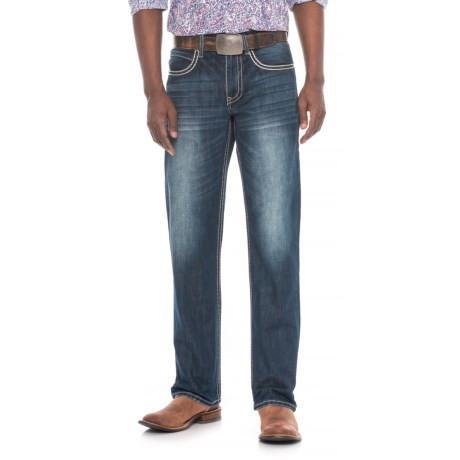 Modern Straight-leg Jeans - X-stitched Pockets (for Men)