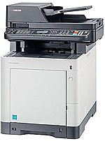 KYOCERA M6530cdn 1102NW2US0 Multifunction Laser Printer   32 ppm   9600 x 600   USB   White Grey