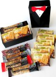 Valentine's Day Gift, Stocking Stuffer, Black Tie Occasion, Formal Decorative Gift Box Filled with 16 Red Foil Wrapped Lindt