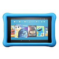 "Amazon All-new Fire 7 Kids Edition Tablet, 7"" Display, 16 Gb, Blue Kid-proof Case - Blue, Black - 16 Gb - 1 Gb - Quad-core (4 Core) 1.30 Ghz - Fire Os 5.3 - 1024 X 600 - Wireless Lan - Bluetooth B01j90msds"