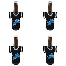 Kolder Detroit Lions Resembling Team Jerseys 3mm Neoprene Wetsuit-Type Rubber Bottle Jersey 4 Pack