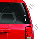 Semicolon - Vinyl Car Decal - Custom Window Car Decal - Unique - Gifts - Fancy - Have a Nice Day - Express Your Journey - Funny (5