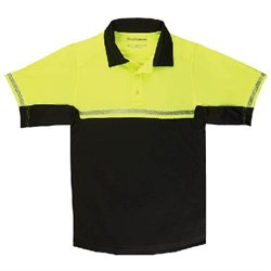 511 Tactical Bike Patrol Polo- Short Sleeve, Size: Medium, Color: Reflective Yellow 71322320M