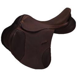 Collegiate Zeta Jump Saddle 17.5'' M Havana Brown
