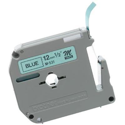 Brother M-531 1/2 Black On Blue Tape