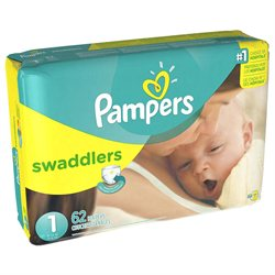 Pampers Swaddlers Size 1 Diapers Mega Pack - 62 Count