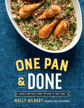 The author of the runaway hit Sheet Pan Suppers expands her repertoire with easy and delicious recipes for dutch ovens, skillets, casserole baking dishes, and more.  In One Pan & Done, Molly Gilbert shows you how to use your oven to your advantage, letting it do most of the work to turn out juicy, crispy roasts, succulent vegetables, rich stews, flaky fish, and, of course, sweet treats