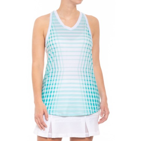 Patterned Racket Racerback Tank Top (for Women)