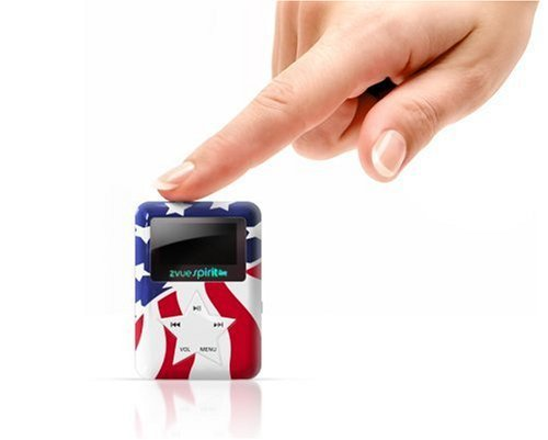 ZVUE Spirit 1 GB MP3 Player--Preloaded with 15 Patriotic Songs (Red, White, and Blue)