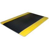 Anti-fatigue Mat,beveled Edge,3'x12',yellow Border,black