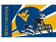 Bsi Products 95312 3 Ft. X 5 Ft. Flag W/Grommets - Helmet Design - West Virginia Mountaineers