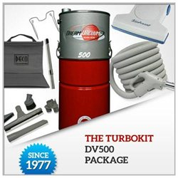 The TurboKit DV500 Central Vacuum Package ( No Installation Kit)