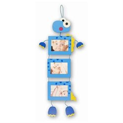Puzzled 9502 Fun Frames - Blue Dino - 3 Hanging Square Frames 3.5 in. x 5 in.