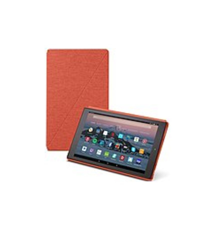 "Amazon Carrying Case (folio) For 10.1"" Tablet - Punch Red - Microfiber Interior, Polyester Woven - 10.4"" Height X 6.5"" Width X 0.6"" Depth"