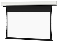 The Da Lite 21764 109 inch Diagonal Deluxe Tensioned Projector Screen is ideal for applications that require a small increase in gain due to screen size and projector brightness