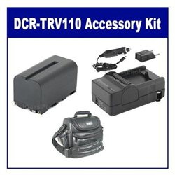 Sony DCR-TRV110 Camcorder Accessory Kit includes: SDNPF770 Battery, SDM-105 Charger, VID90C Case