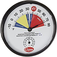 Cooper 212-159-8 Freezer And Cooler Analog Hygrometer