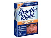 Breathe Right Nasal Strips Advanced - 10 Strips