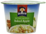 Quaker Instant Oatmeal Baked Apple, 1.9-Ounce Cups (Pack of 24)