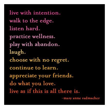 Quotable Live with intention: Radmache Magnet