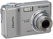 Fujifilm Finepix 43860131 F470 6.0 Megapixel Digital Camera - 3x Optical/4.4x Digital Zoom - 2.5-inch Lcd Display - F2.8-4.9 Lens - Silver