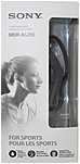 Sony As210 Sport In-ear Headphones - Stereo - Black - Mini-phone - Wired - 16 Ohm - 17 Hz 22 Khz - Gold Plated - Earbud, Over-the-ear - Binaural - In-ear - 3.90 Ft Cable Mdr-as210/b