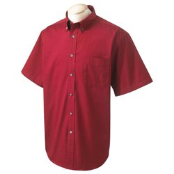 Chestnut Hill 32 Singles Short Sleeve Twill Button Down Dress Shirt