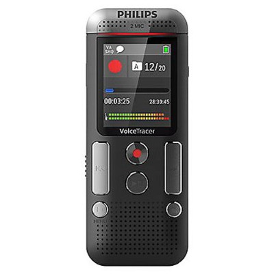 Philips Dvt2510/00 Voice Tracer Dvt2510 - Voice Recorder - 110 Mw - 8 Gb - Chrome  Anthracite