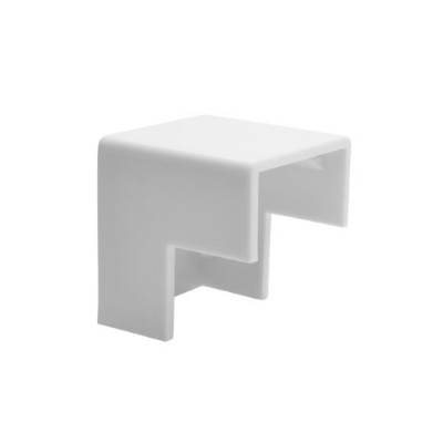 Tripplite N080-c25-oc-wh Raceway Outside Corner Connector For Cable Wiring Duct 20pk Wh