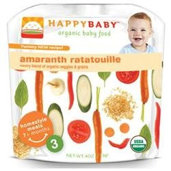 Happy Baby Organic Stage 3 Pouch Foods Amaranth Ratatouille