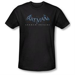 Mens BATMAN ARKHAM ORIGINS Short Sleeve LOGO XLarge Slim Fit T-Shirt Tee