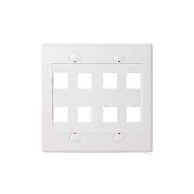 Belkin F4e469-8-wht Faceplate - White - 2-gang - 8 Ports