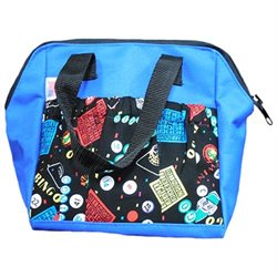 Bingo Party 6-pocket Tote Bag Blue