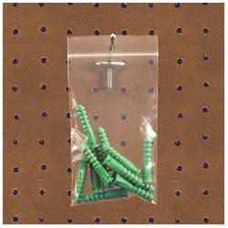 BOX Reclosable Poly Bag with Hang Hole - 3 x 4 - 2 mil (51 Micron) Thickness - Poly - 1000/Carton