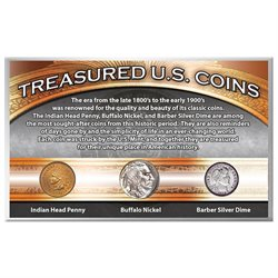 Treasured Historic 20th Century American Coins - Nickel Penny and Dime Set
