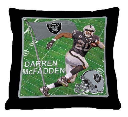 Biggshots ORDMSP005-12P2-107 Oakland Raiders Darren McFadden Toss Pillow, 18-Inch