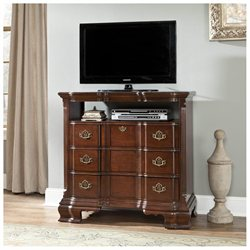 Homelegance Guilford 3 Drawer Tv Chest In Brown Cherry