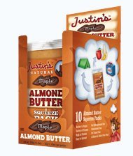 Justin's Natural Maple Almond Butter - 10 Squeeze Packs