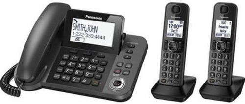Panasonic Kx-tg572sk Dect 6.0 Expandable Cordless, Corded Phone System - 3 Handsets