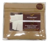 Homecrest 1800 Series Bed Sheet Set (gold, King)