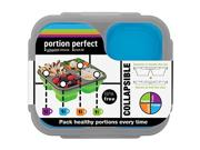 Smart Planet PP1LPLB Portion Perfect Meal Kit Type: Kit Color: Blue Features: Customize your lunch with perfect portions!     Expands to Double the size, push down to collapse and store at half the size
