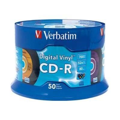 Verbatim 94587 Digital Vinyl Cd-r - 50 X Cd-r - 700 Mb (80min) 52x - Spindle